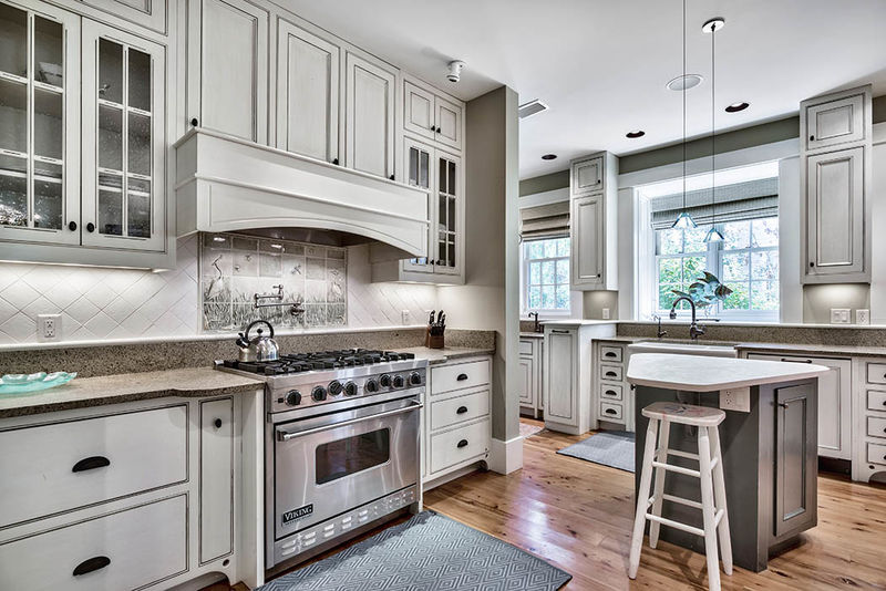 Beautiful kitchen with custom cabinets and high-end appliances