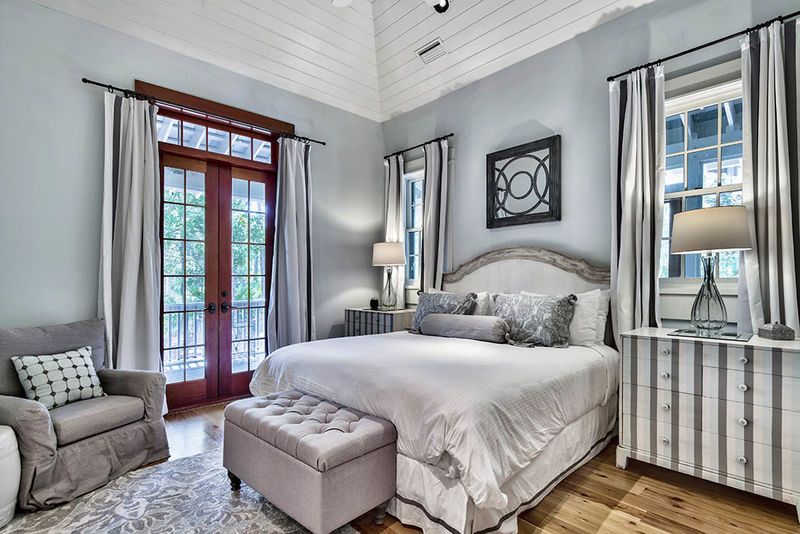 The king master bedroom is located on the first floor