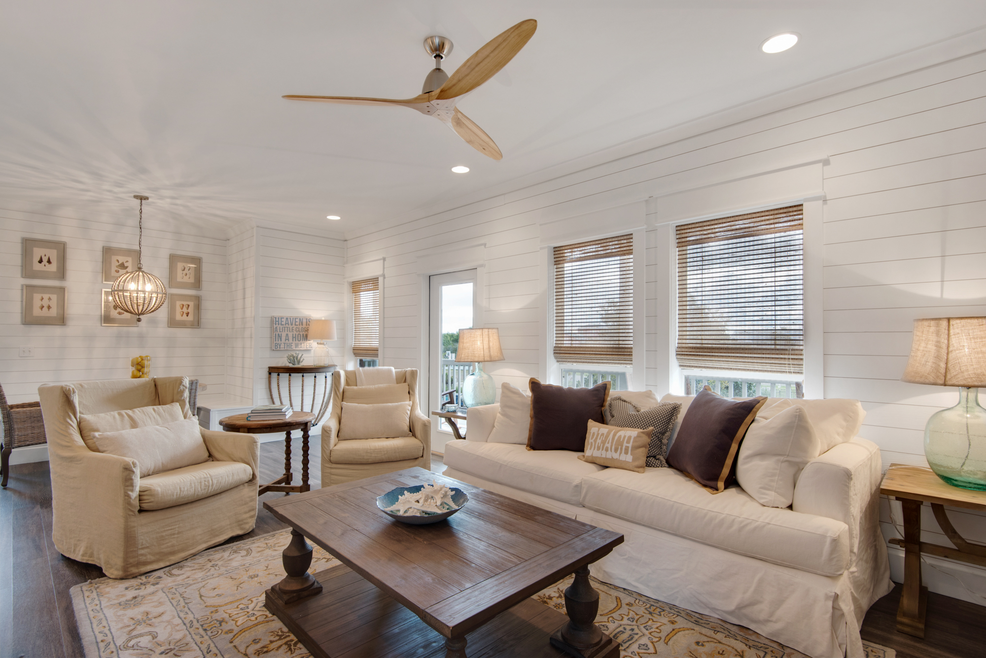 Wonderful Elevated Living Space with Ample Seating