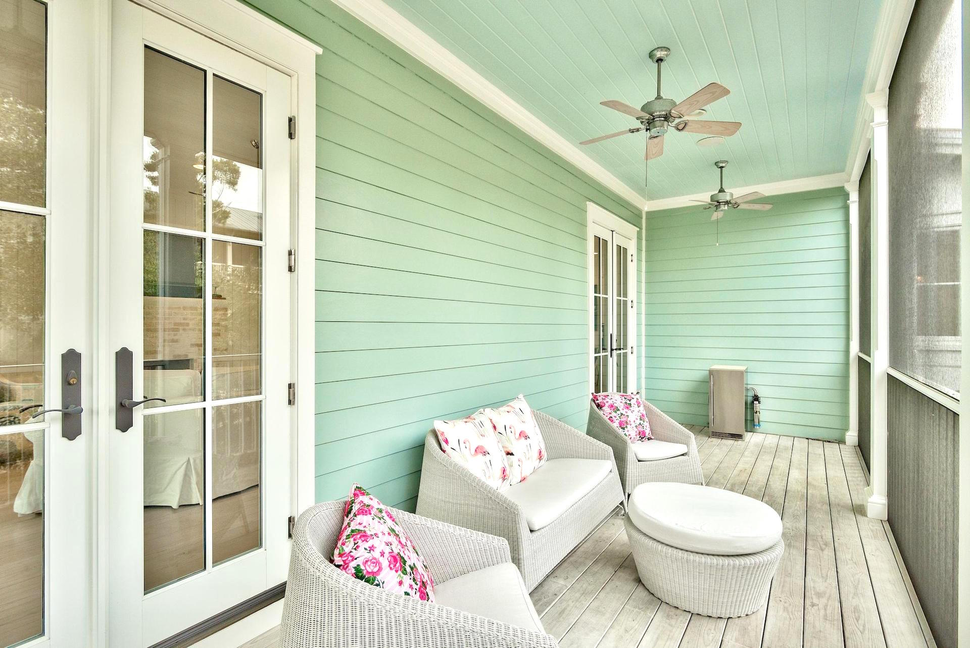 Enjoy the breeze on the screened porch
