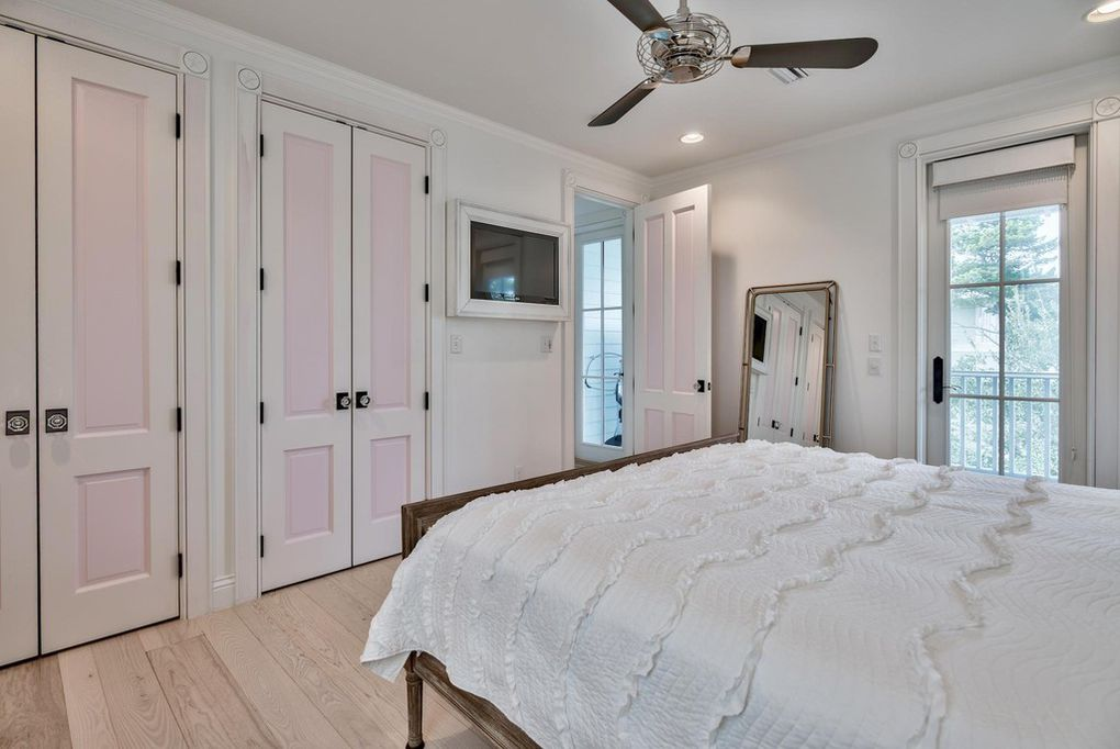 The king guest room has plenty of closet space for you.