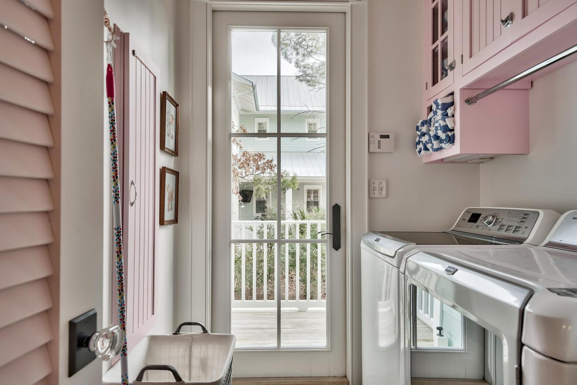 Laundry room with easy access from the outside