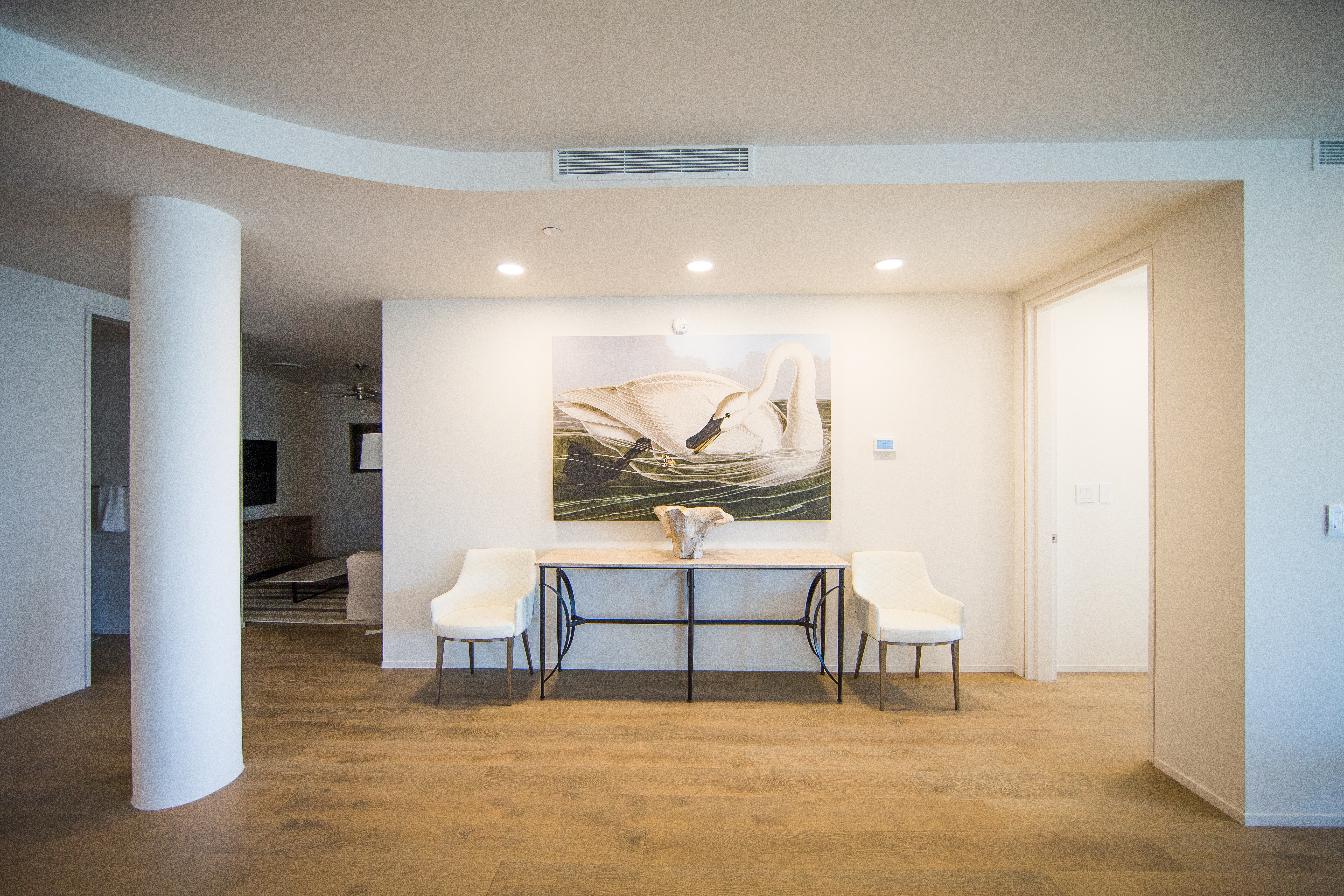 Beautiful artwork is featured throughout the home