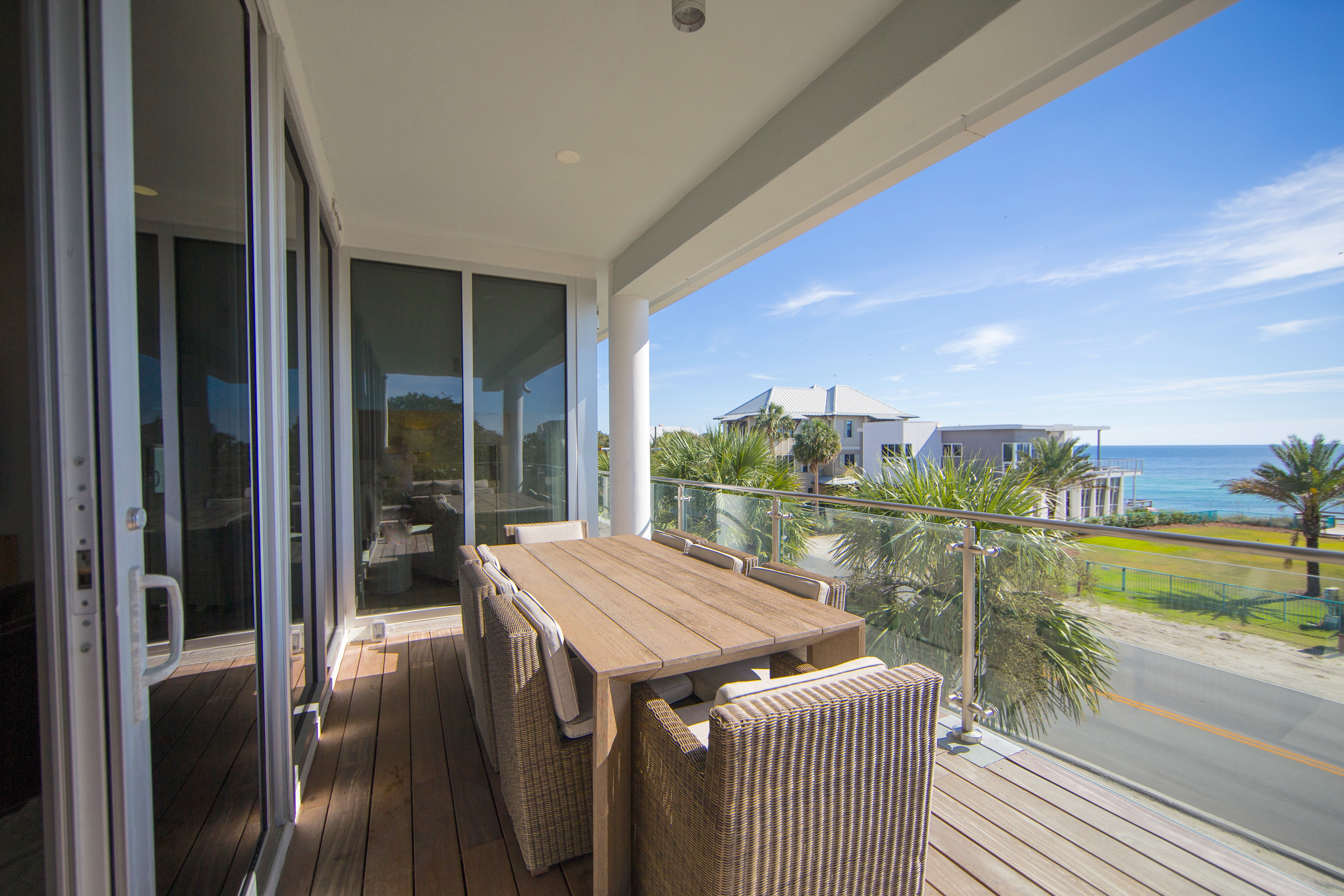 Gorgeous, Gulf Views from the balcony of Viridian 203