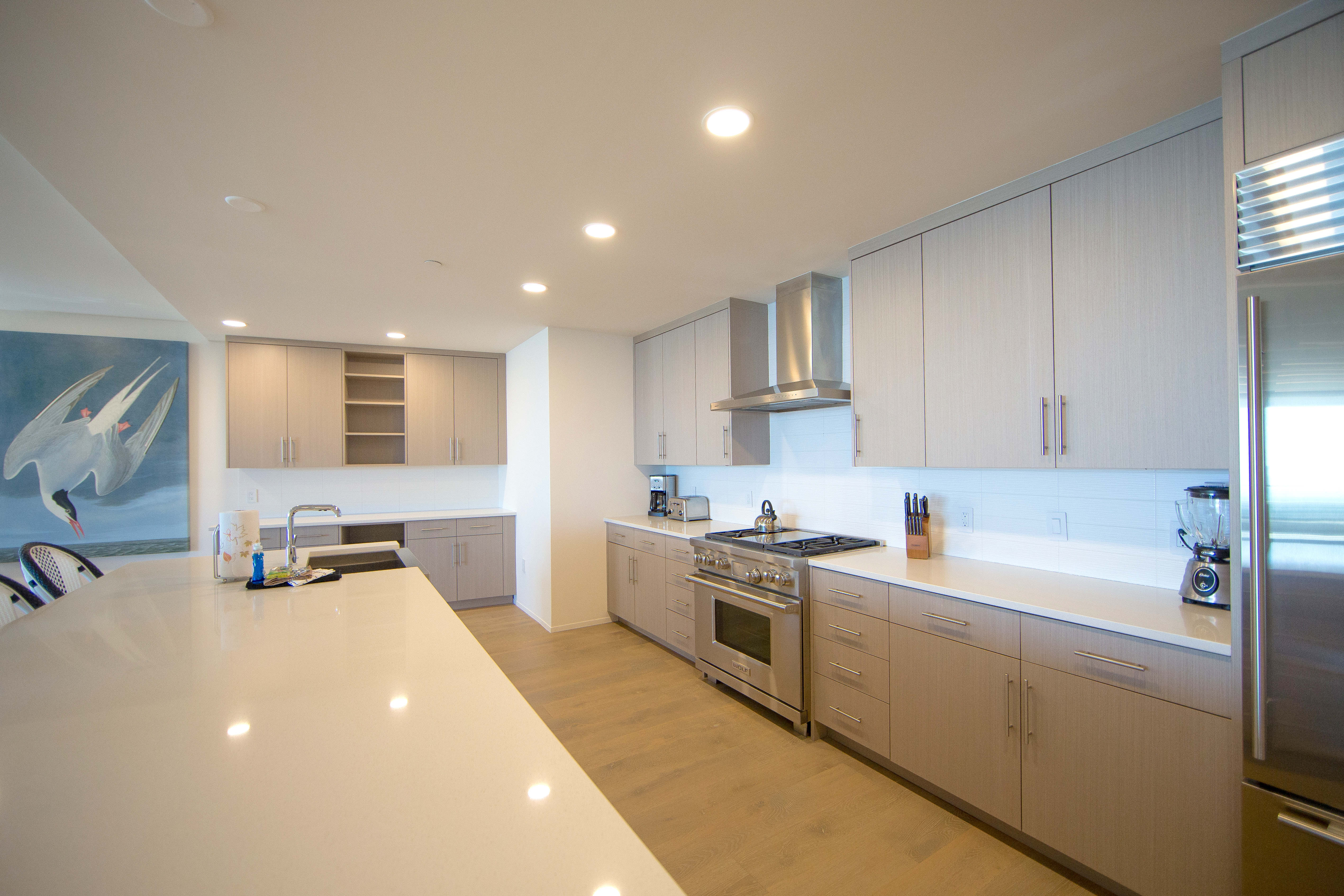 Huge kitchen with stainless appliances and lots of counter space