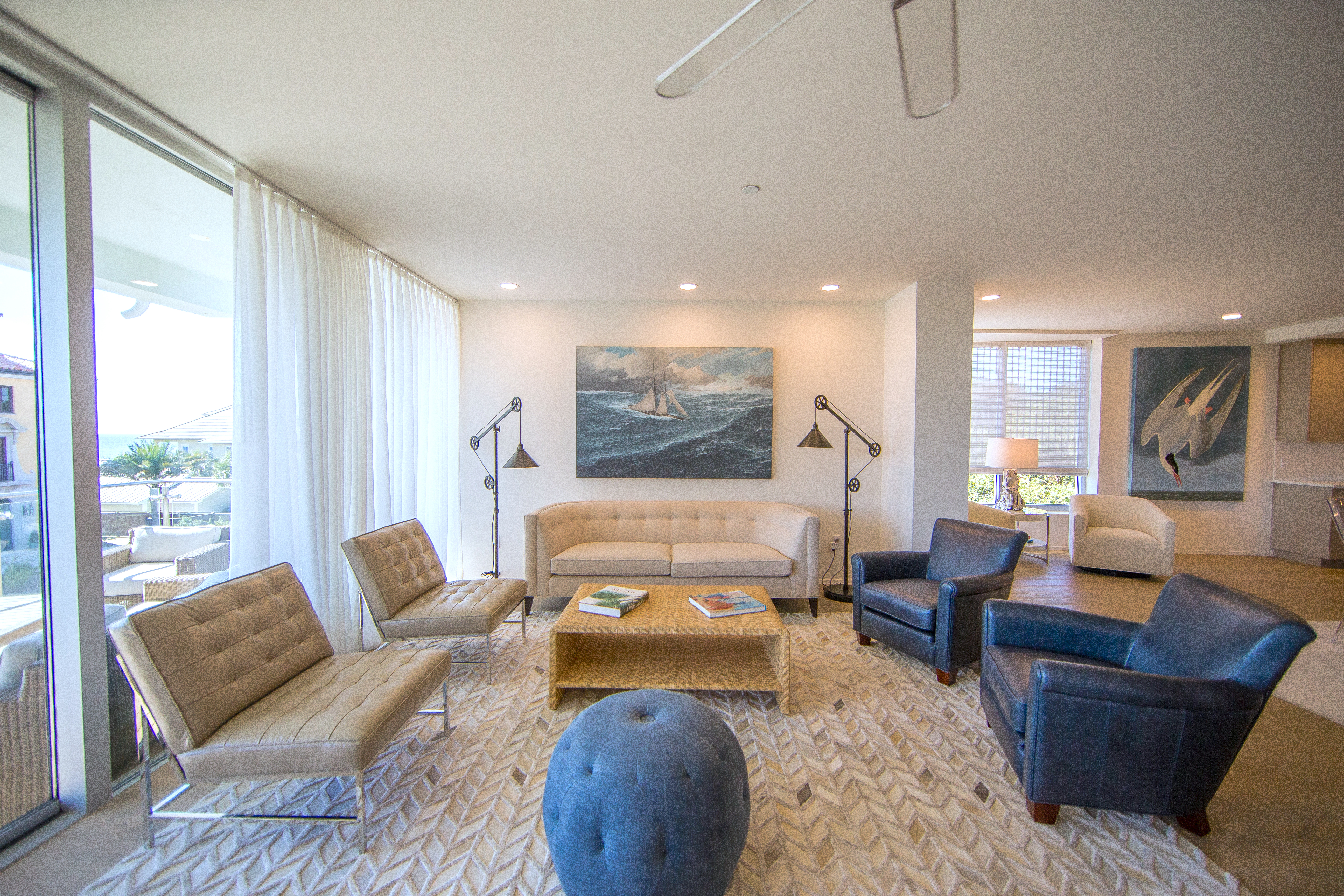 Separate seating area in the large living space