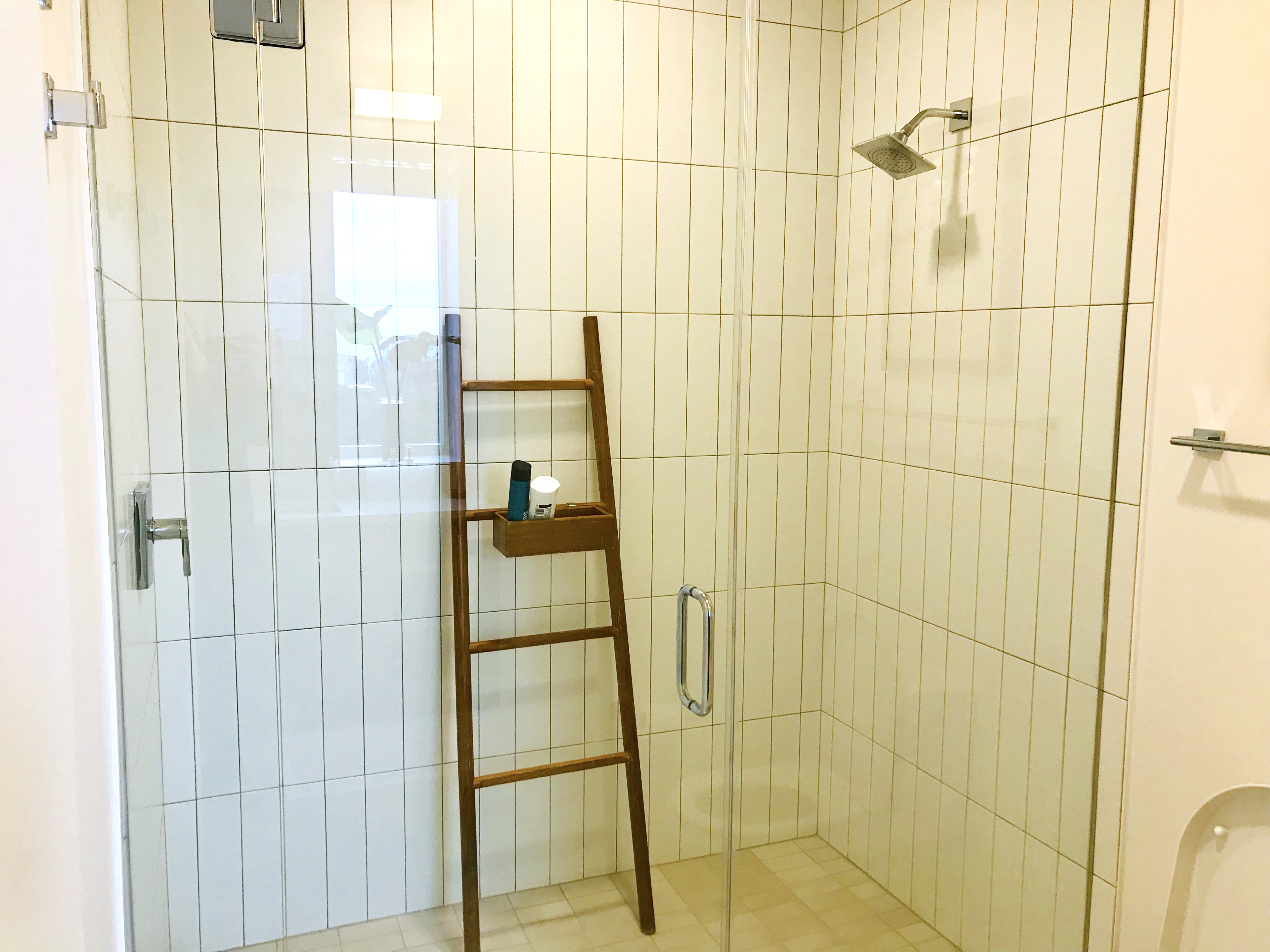 Jack and Jill bath features a walk-in shower