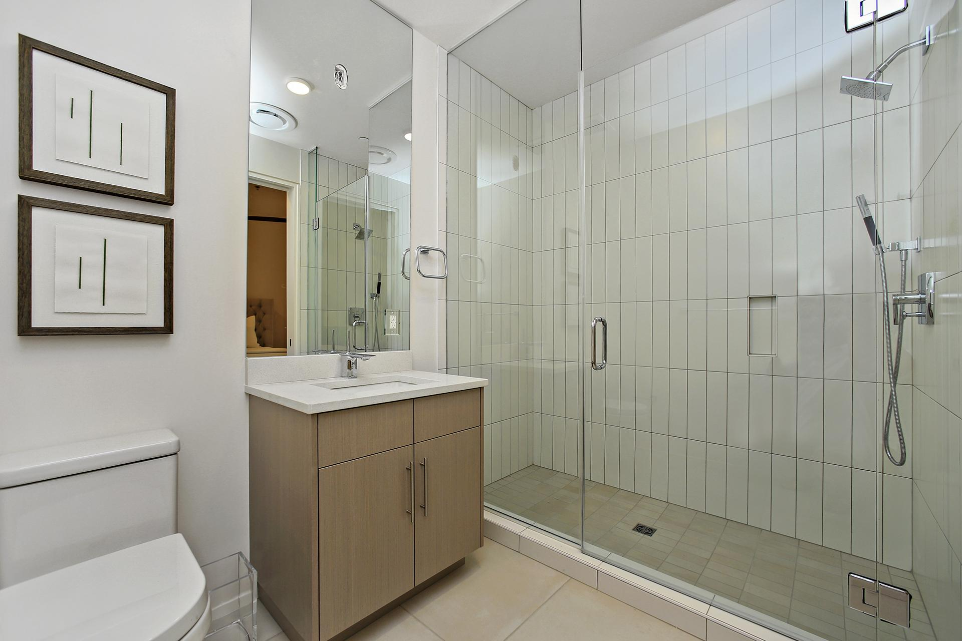 King guest bath with walk-in shower