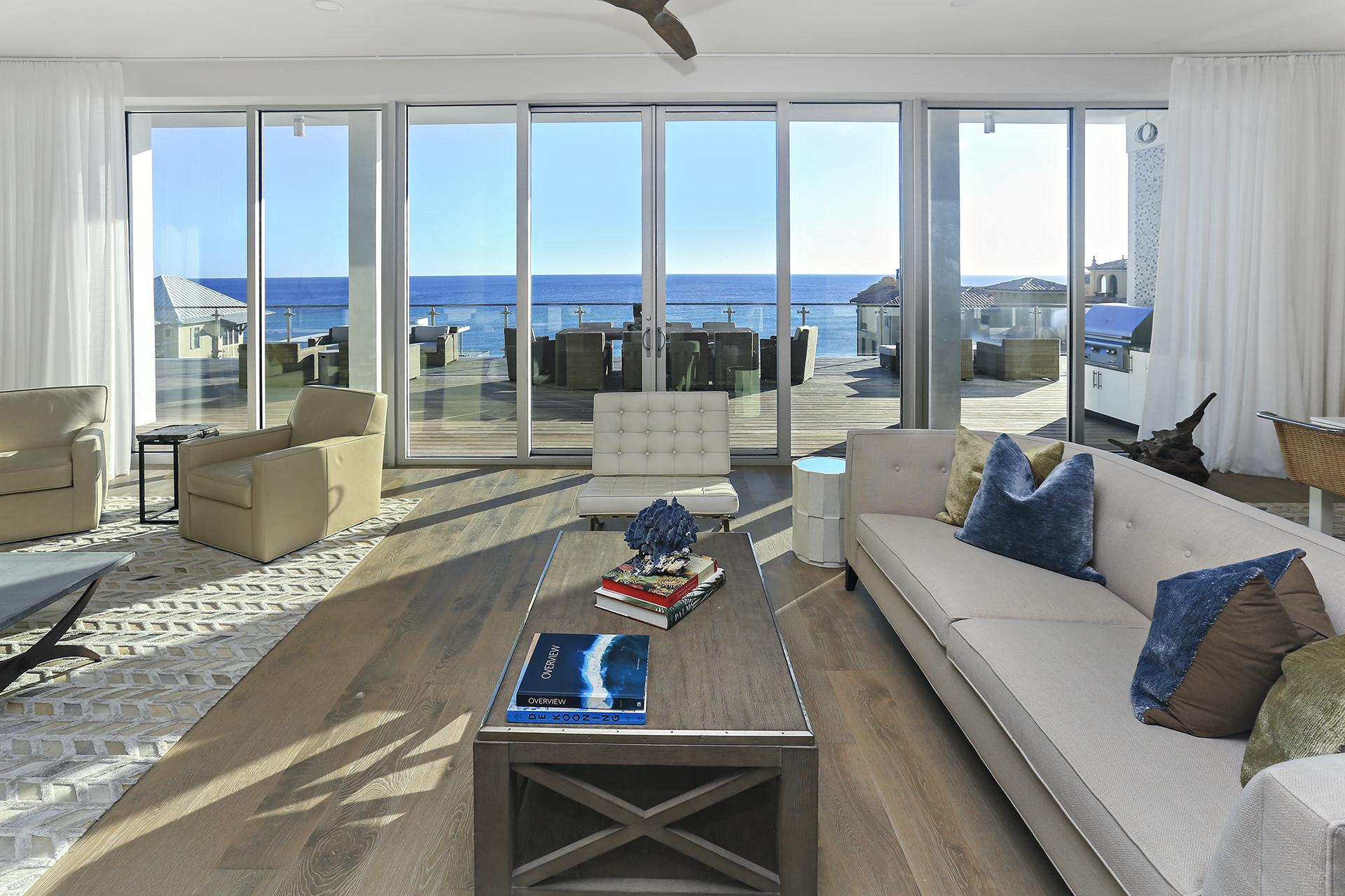 Spacious living room provides plenty of space for everyone
