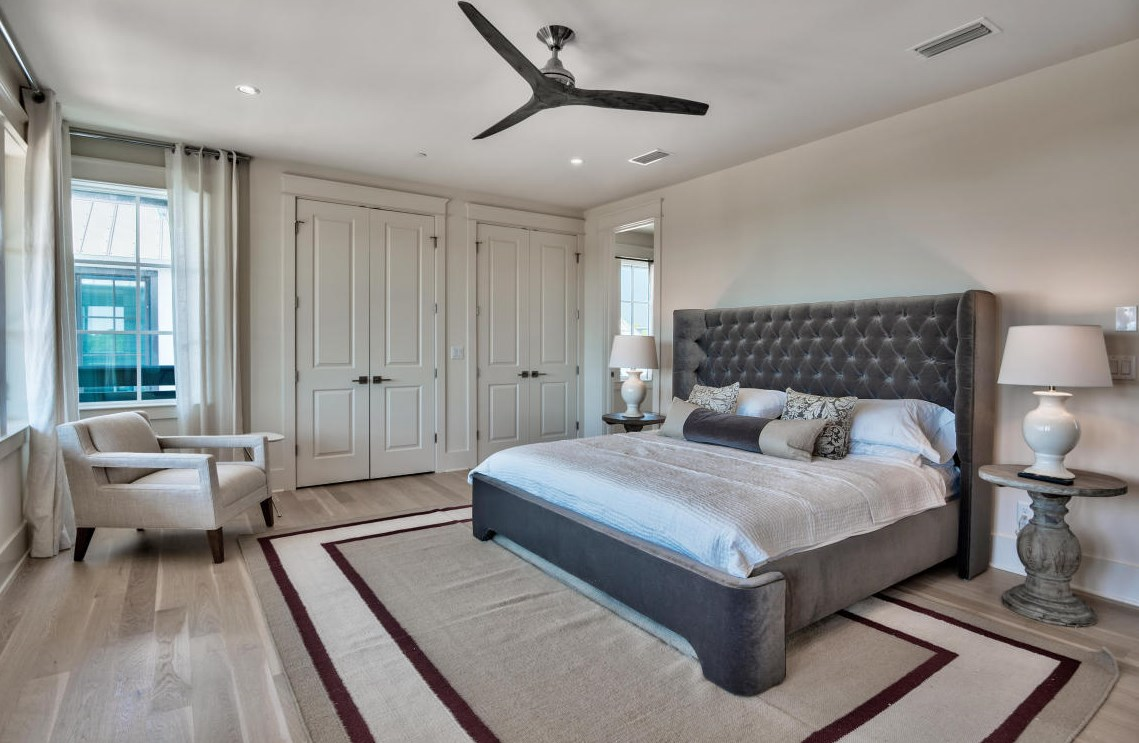 Spacious master bedroom located on the 4th floor