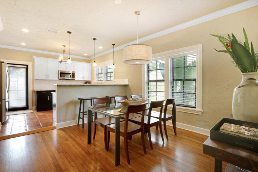 Fabulous view of dinning room and facing the kitchen - This can be your palm beach oasis