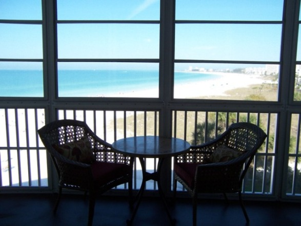 Gulf Front vacation rental on Siesta Key with 2 bedroom and heated pool