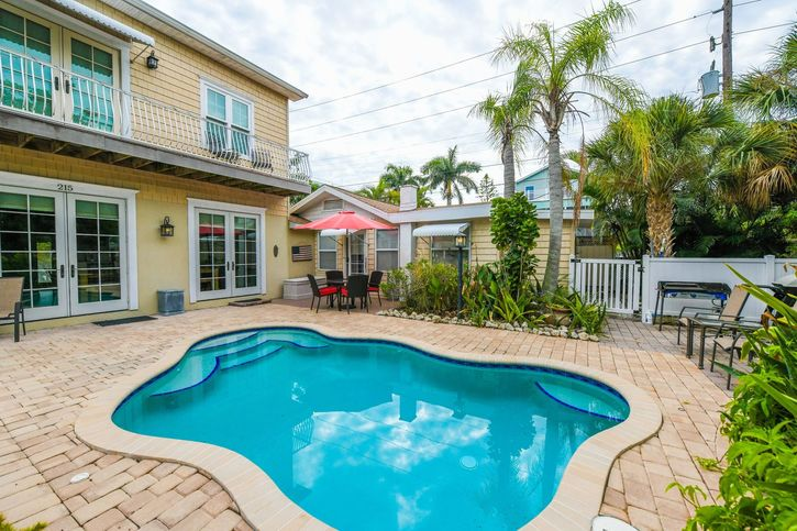 Large 5 bedroom vacation home rental in Anna Maria Island, FL with pool and patio close to the beach