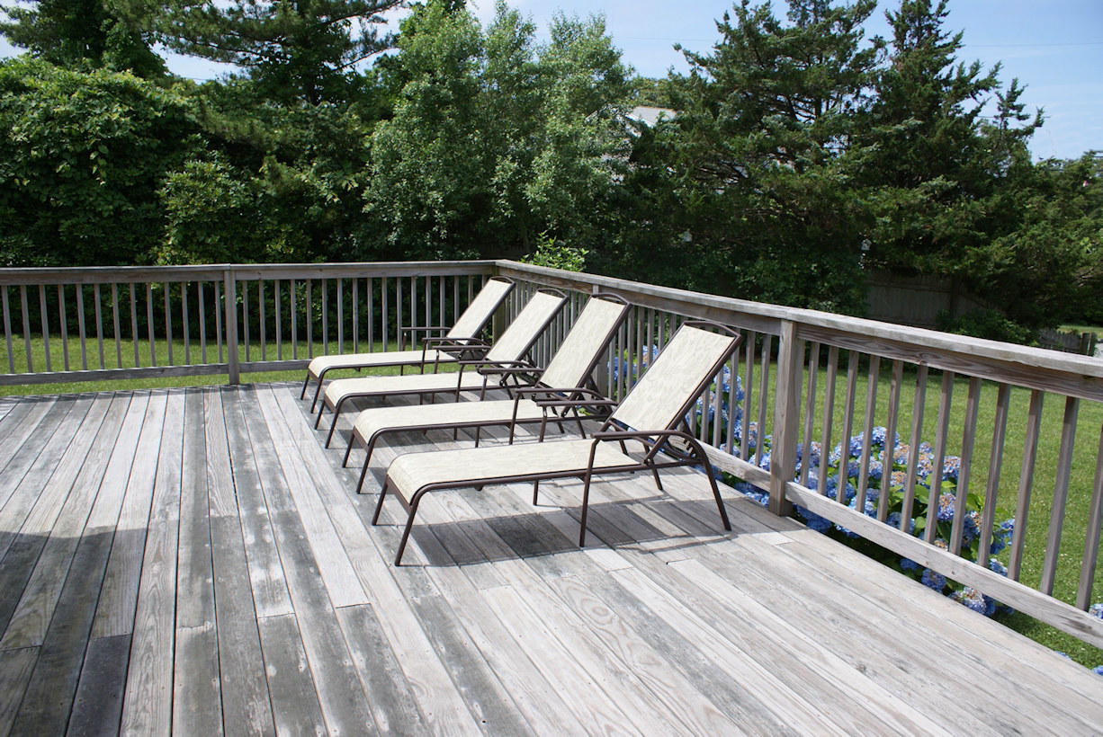 Relax on the sunny deck