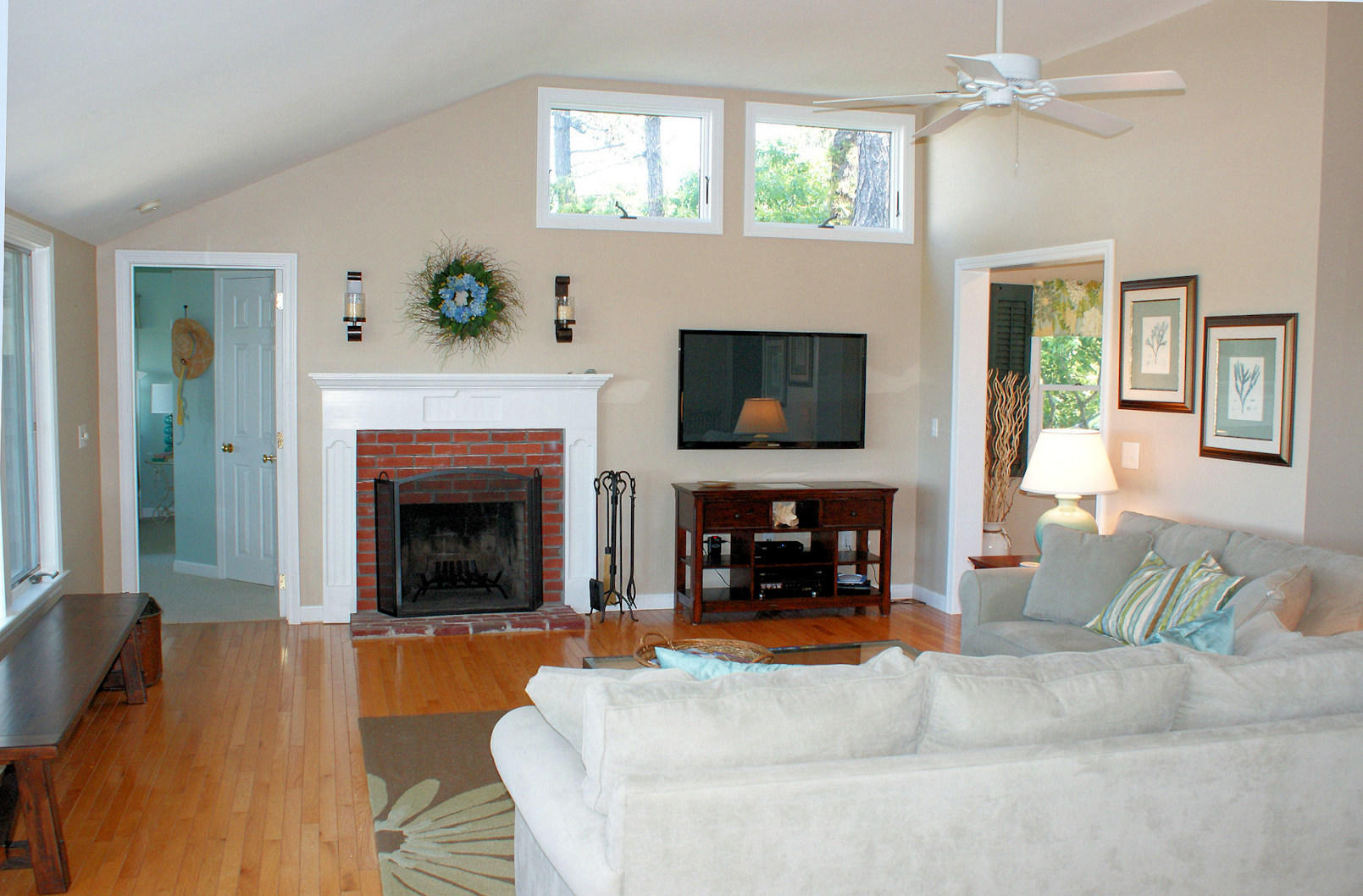 Fireplace and TV in Living area
