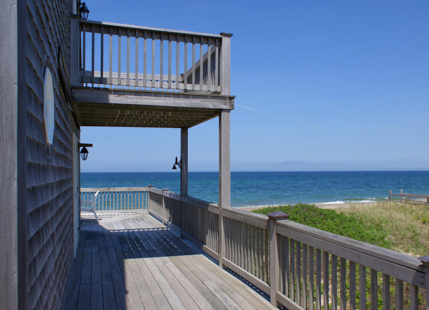 Enjoy views from decks on both levels