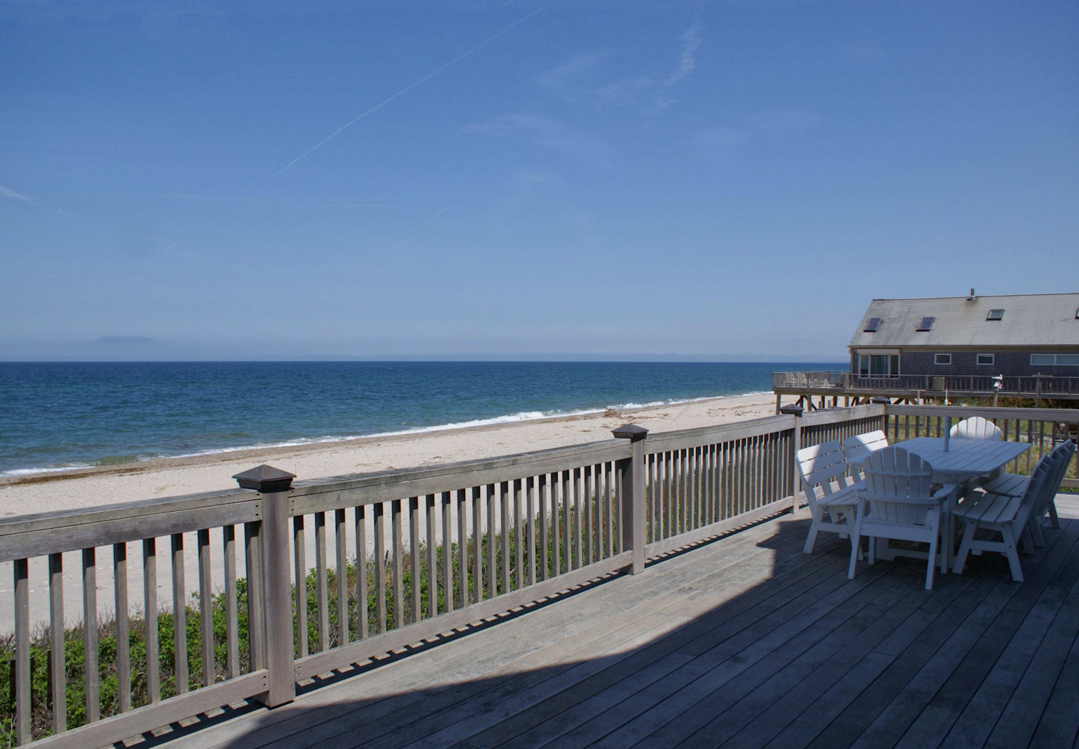 Oceanviews from expansive lower deck