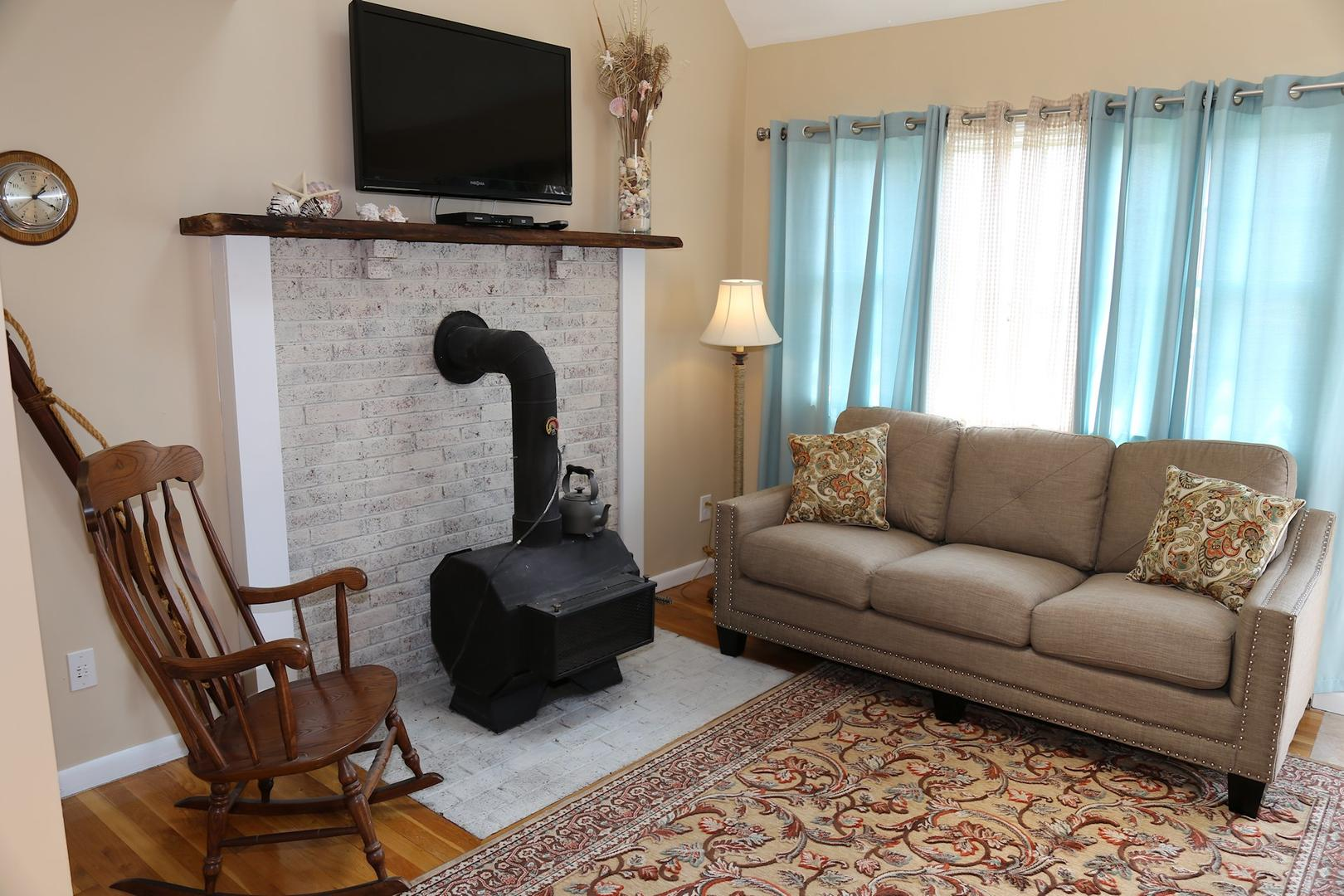 Living Room ( Wood stove not for use)