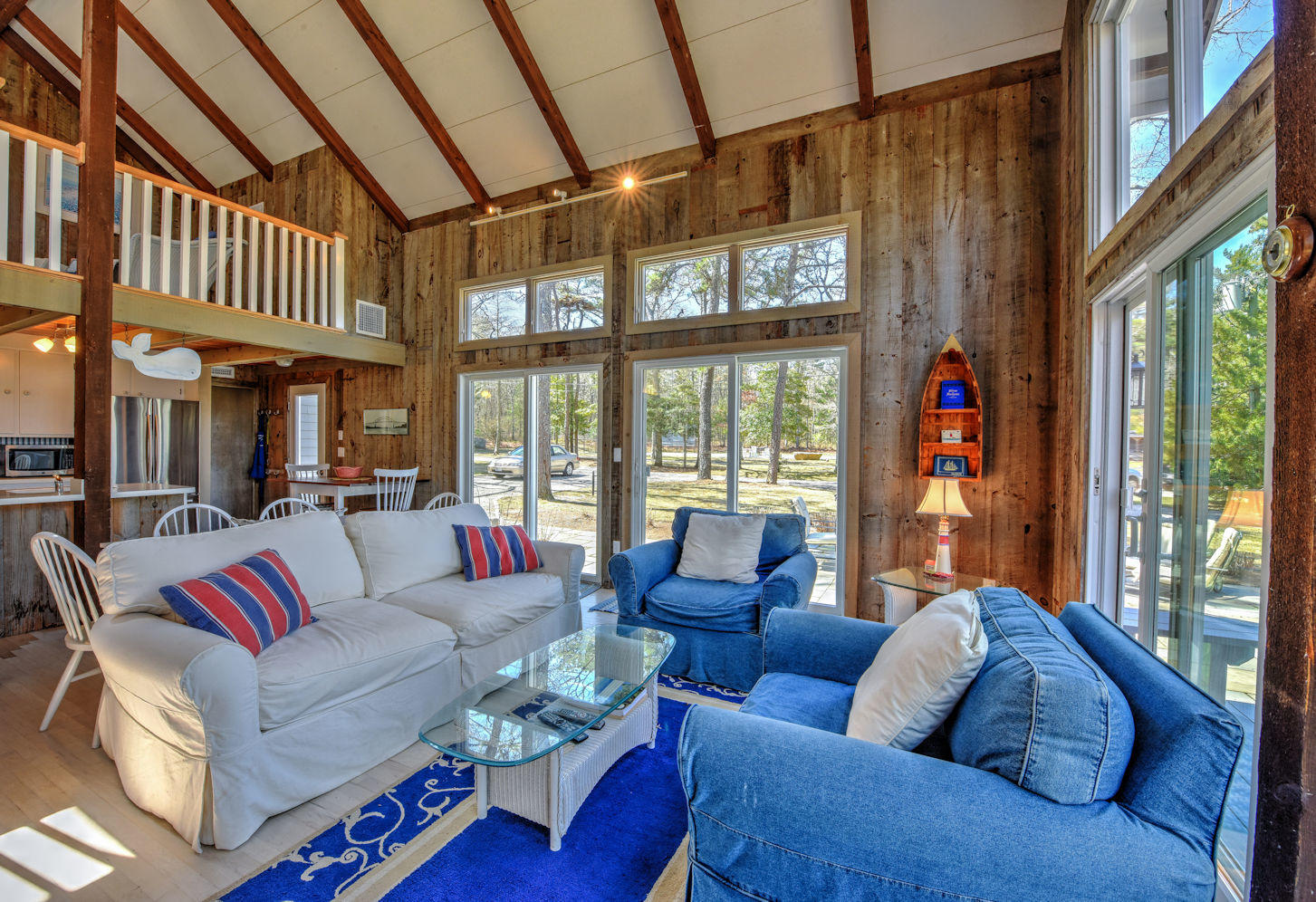 Living area opens to deck