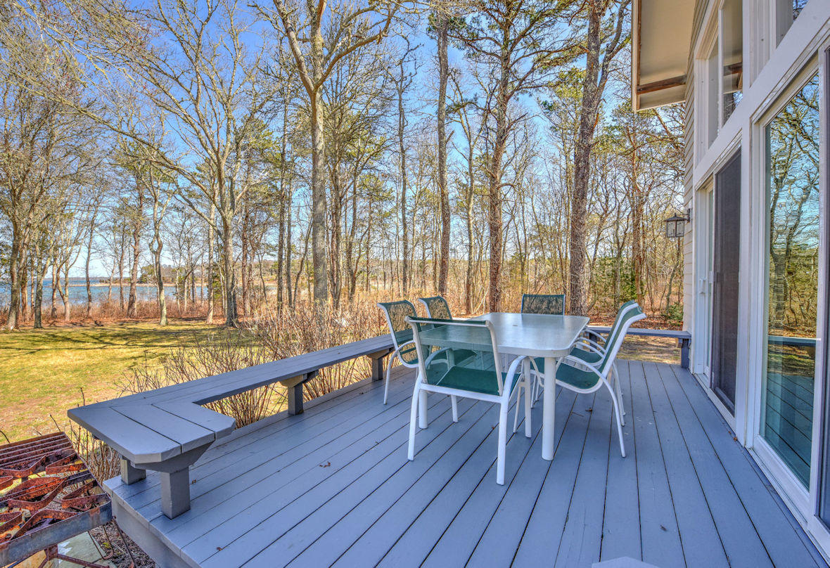 Water side deck with views