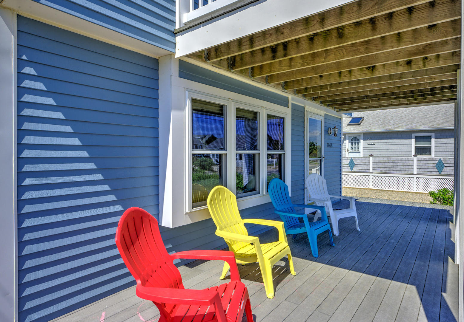 Relax in shade of lower front deck