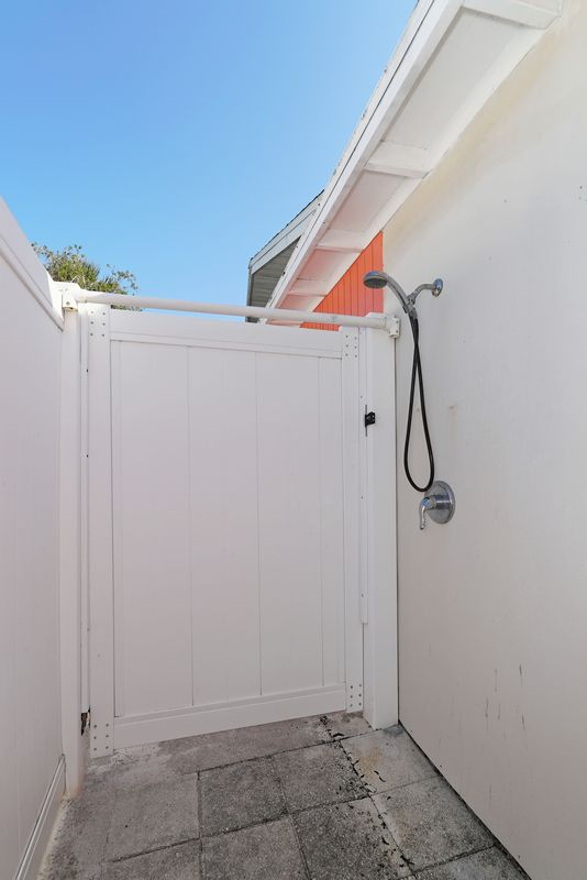 Large outdoor shower.