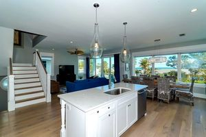 Open plan living, kitchen and dinning.