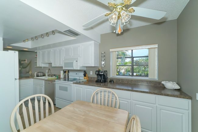 Large eat-in kitchen.