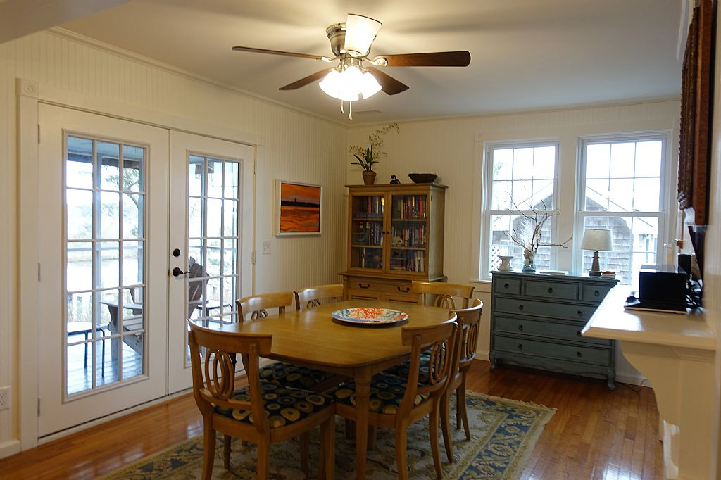 Looking from Kitchen to Dining and Porch