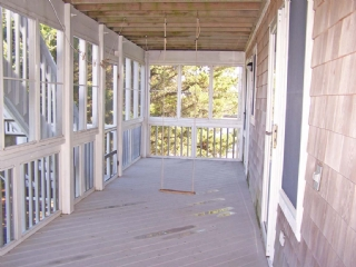 Screened Porch from 1st Floor Bedrooms