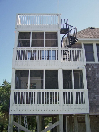 View of Porches and Rooftop Deck