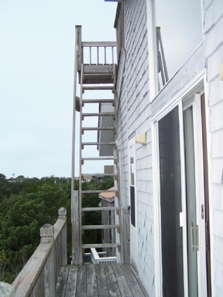 From Master Bedroom Deck to Rooftop Deck