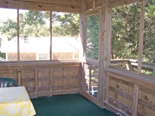Screened Porch to stairs