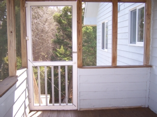 Screened Porch from Kitchen