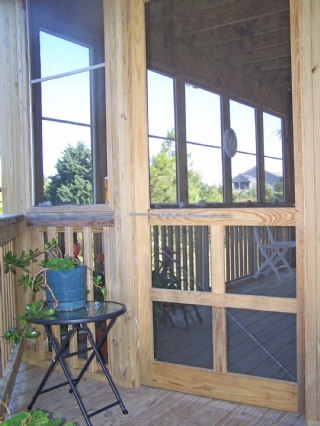 To Screened Porch from outside
