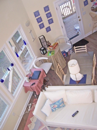 Looking from upstairs
