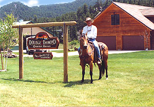 The front of the Double Diamond Ranch