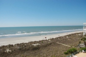 View to the South from Oceanfront Balcony