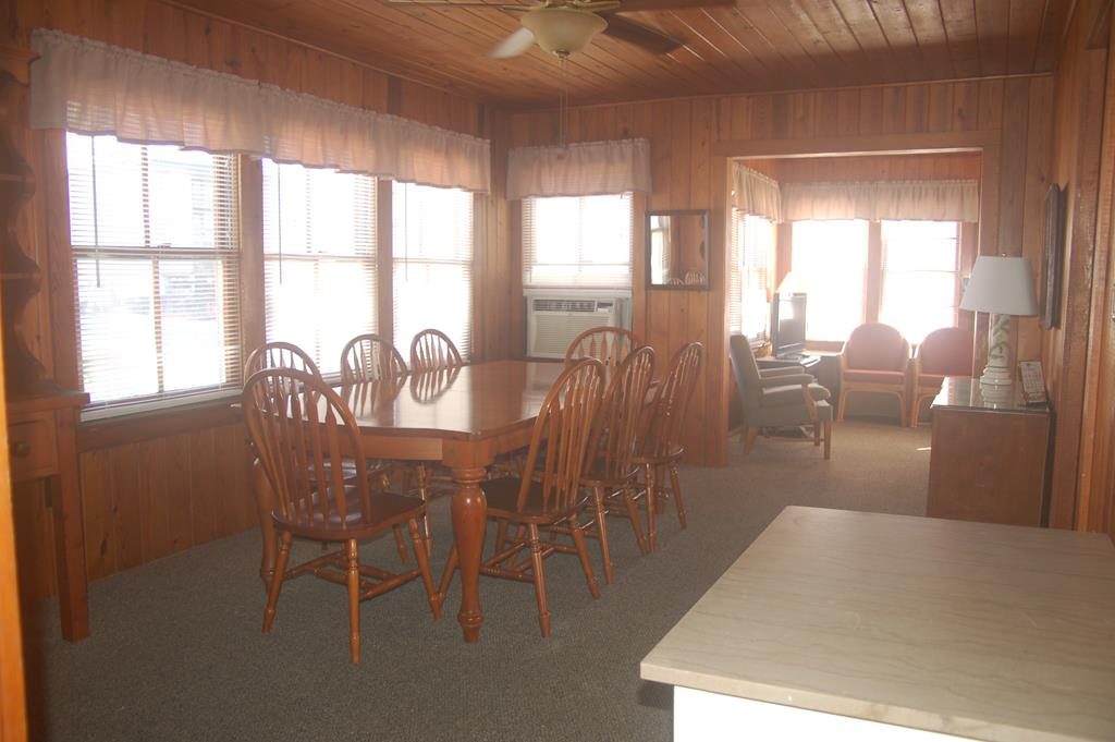 Large and open dining area