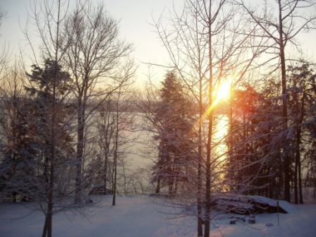 Winter sunrise from the house