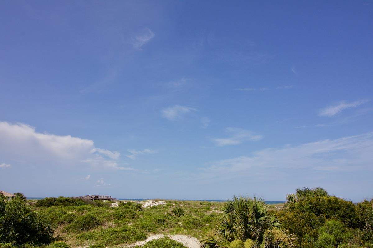 Oceanfront view from 1st floor 2 bedroom St Augustine condo rental with pool