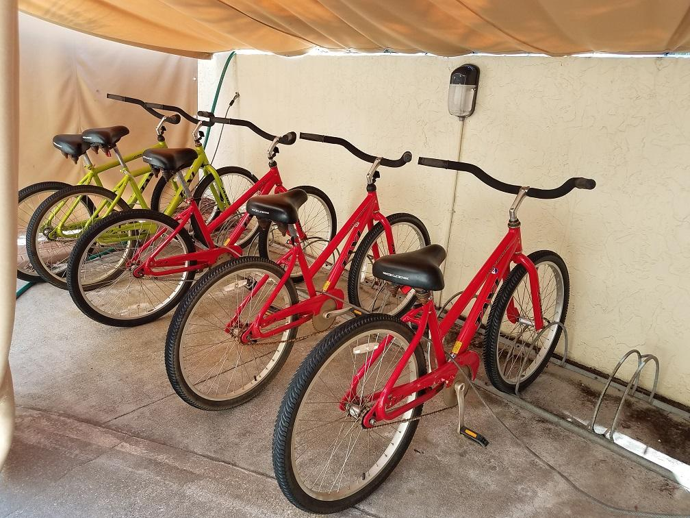 beach cruiser bikes available for rental guests