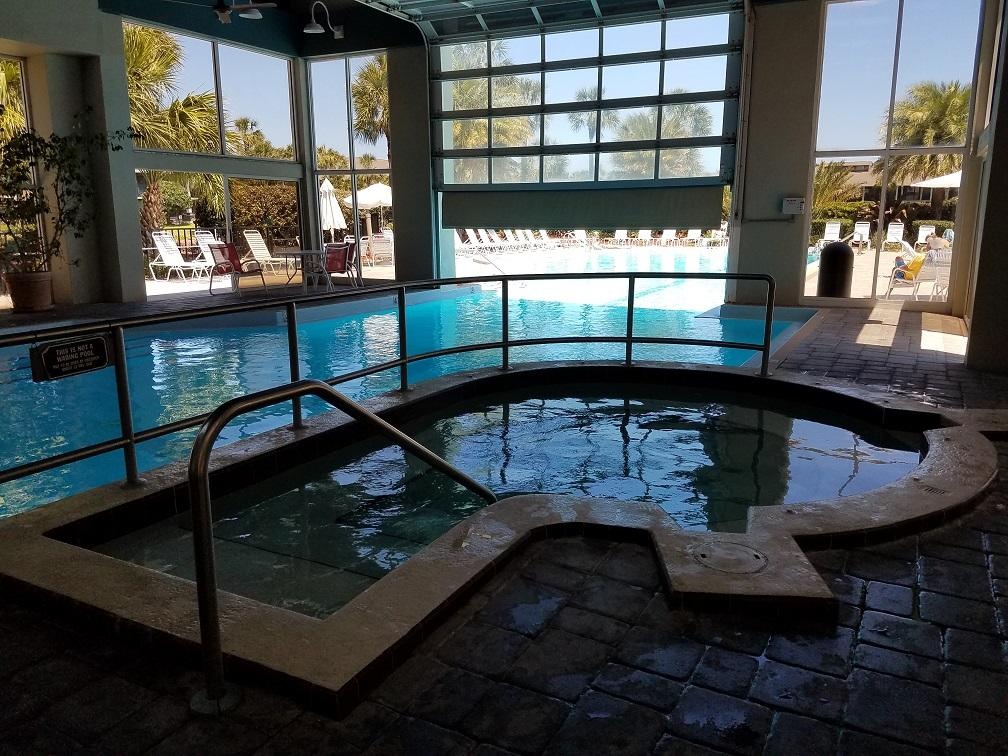 indoor/outdoor heated pool area   hot tub