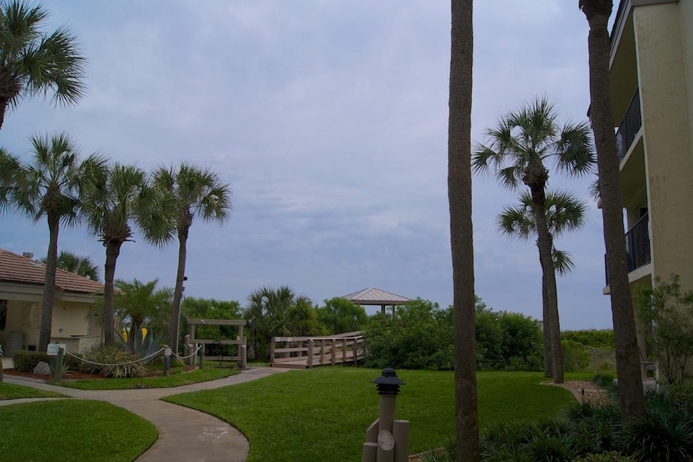 Ocean View in St Augustine 2 bedroom condo on the 1st floor