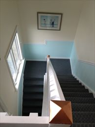 Private interior stairwell to unit.