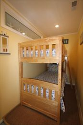 Compact 3rd bedroom with bunk.