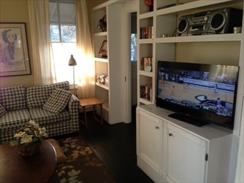 Living Room. Flat Screen TV. Take A Book, Leave A Book Library!