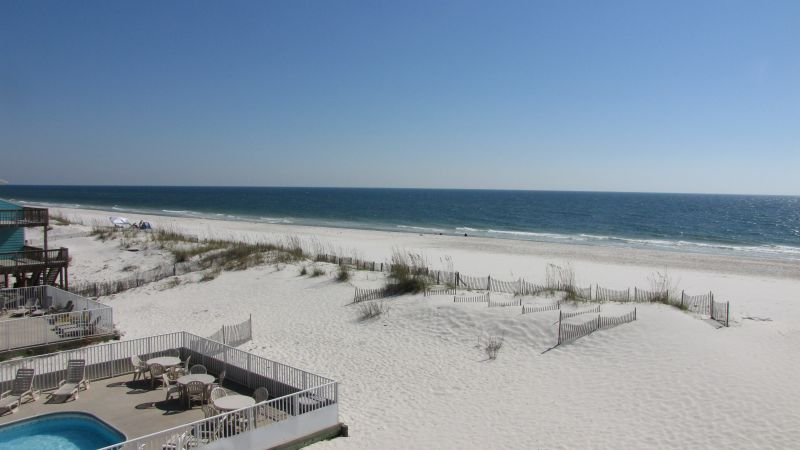 Awesome view of beach/gulf from deck