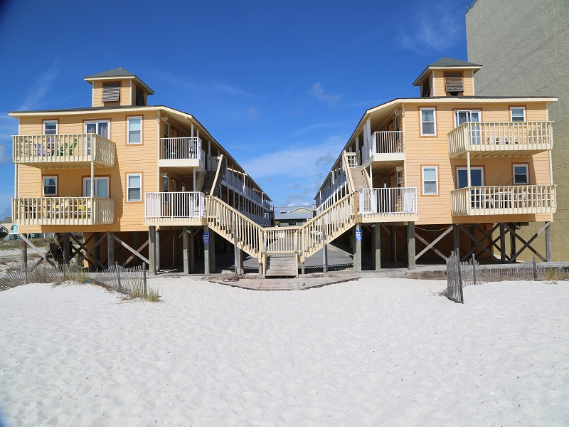 Sunrise Village is directly on the beach!
