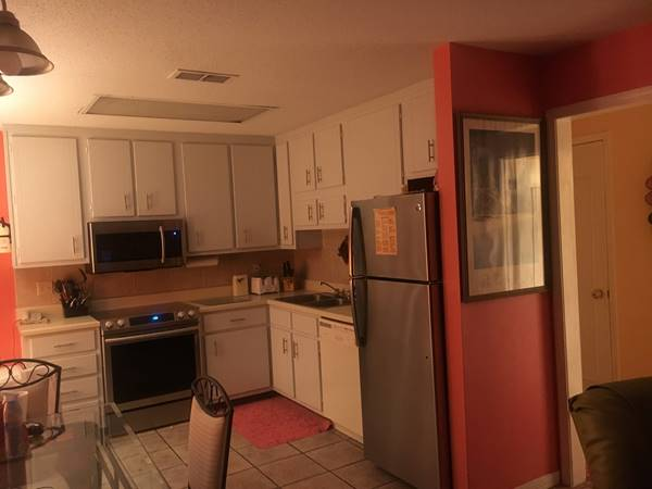 Full kitchen with new refrigerator, stove, & microwave